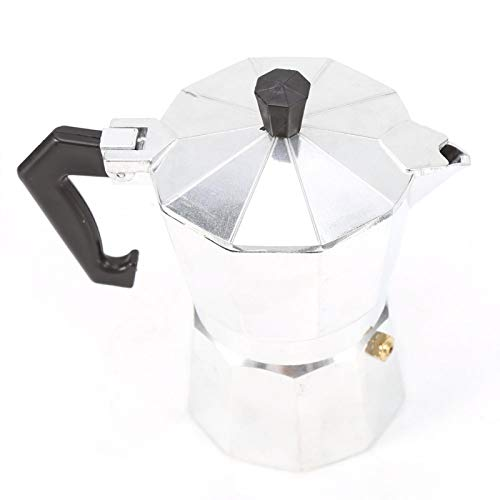 Moka Pot, aluminiowy dzbanek do moki typu włoskiego, klasyczny ekspres do kawy Moka Pot, do użytku domowego!(150 ML 3 filiżanki)