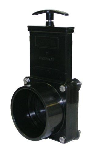 Valterra 7311 ABS Gate Valve pour réservoir Direct de fixation, Noir, 7,6 cm Slip X Réservoir Bride