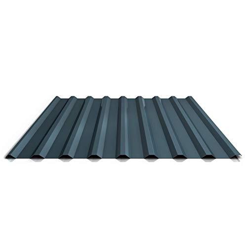 Trapezblech   Profilblech   Dachblech   Profil PS20/1100TR   Material Stahl   Stärke 0,50 mm   Beschichtung 35 µm   Farbe Dunkelgrau