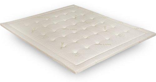 EVERGREENWEB MATERASSI & BEDS Green Topper Latex H5 cm correttore di rigidità ergonomico in Lattice Singolo 80x190