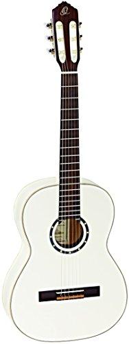 Ortega Guitars R121-7/8 Konzertgitarre (Größe: 7/8, Luxus-Gigbag) weiß