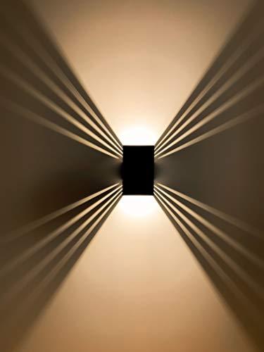 Wandleuchte Innen/Außen LED 12W warmweiß wasserdicht Hauswand Außenwandlampe   ShineLED-Outdoor 2.0 SpiceLED