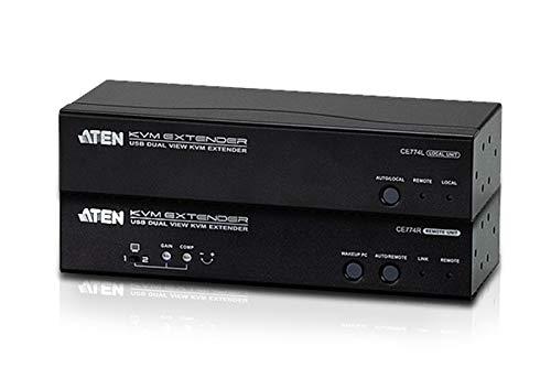 ATEN USB KVM Extender, Dual View, CE774-AT-G