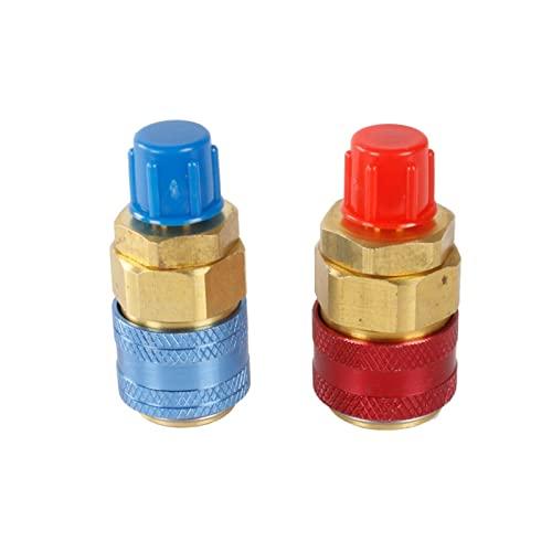 Sweatpants R134A.Raccordi adattatori 1 Accoppiamento rapido da 1/4 Pollice Regolabile AC Connettore del Tubo del manometro del Manifesto del condizionatore d'Aria dell'automobile (Color : As Shows)