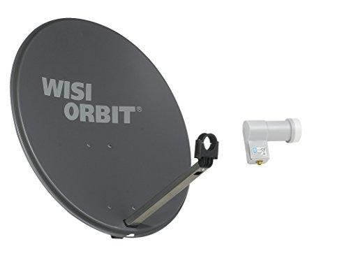 WISI Satellitenschüssel Set basaltgrau 60 cm für 1 Teilnehmer bestehend aus OA 36 H und OC 01 D