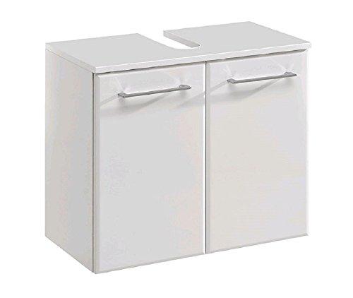 Universal-Waschtischunterschrank 60 cm breit ★ Bad-Unterschrank in Weiß hgl. ★ Waschtischbeckenunterschrank sofort lieferbar