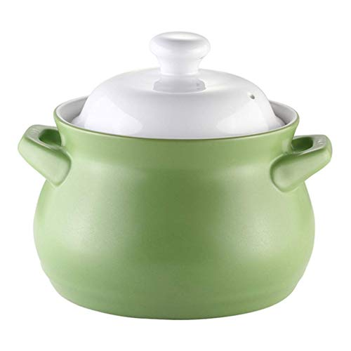 Ceramic stew pot round ceramic casserole with lid large capacity non-stick soup pot health clay pot family A clay rice cooker 2.2l