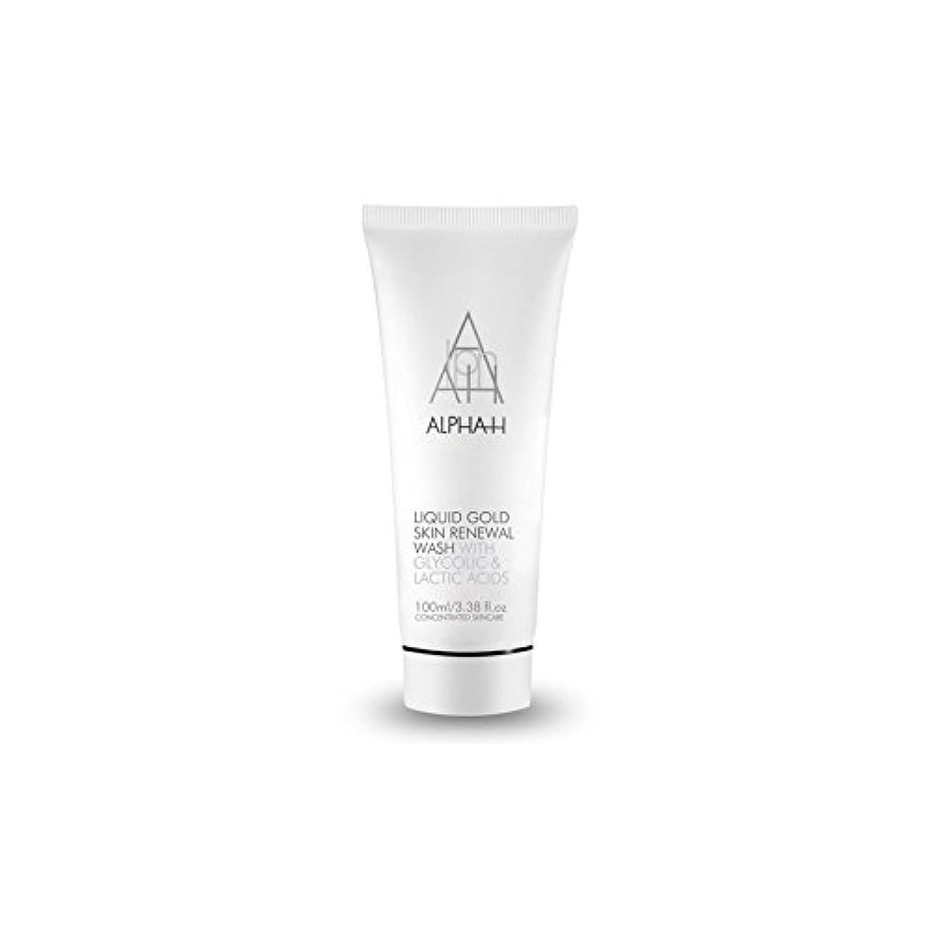 ストレス意気込みフルーティーAlpha H Gold Skin Renewal Wash (100ml) (Pack of 6) - アルファのゴールドスキンリニューアルウォッシュ(100ミリリットル) x6 [並行輸入品]