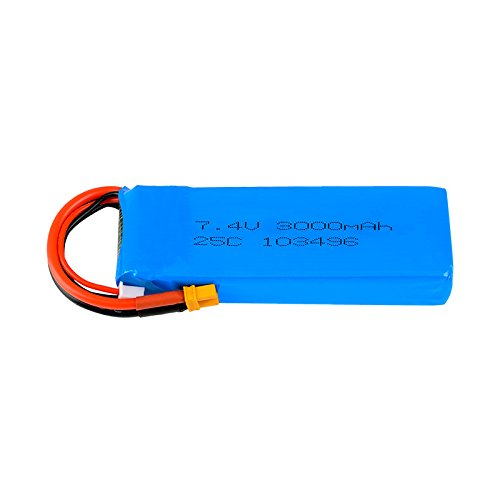 Upgrade 7.4V 25C 3000mAh Rechargeable Lipo Battery XT30 Plug for MJX Bugs 3 RC Quadcopter Spare Parts