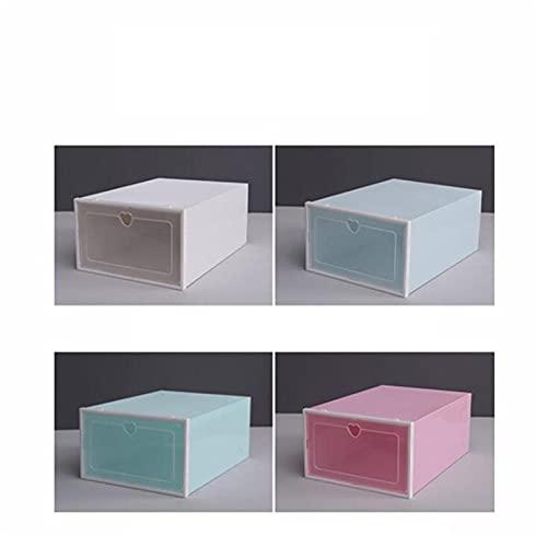 Maoviwq Caja de zapatos plegable de plástico transparente caja de almacenamiento organizador apilable para zapatos de mujer y hombre