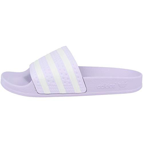 adidas Damen Adilette Slide Sandal, Violett (Purple Tint/Footwear White/Purple Tint), 35 EU
