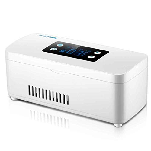 Pyrojewel Alto Volumen insulina portátil Chiller Nevera portátil, pantalla de cristal líquido de pantalla recargable for el hogar/coche/viajes