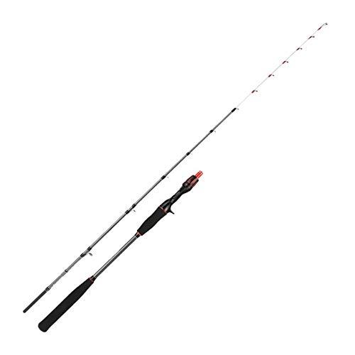 Canna da pesca polpo con mulinello light jigging rod set PE0.6-1.5 canna da pesca da barca 1.5m ML potenza di alta qualità-Just the Rod
