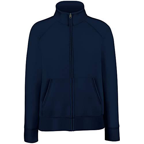 Premium Sweatjacke Lady-Fit - Farbe: Deep Navy - Größe: XXL