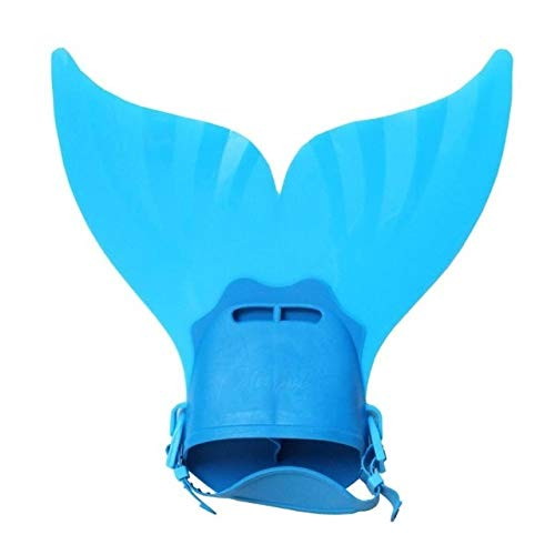 YFFSS Kinderschwimmflossen Trainings Flipper Mermaid Schwimmflosse Schwimmen Fuß Flipper Tauchen Füße Schwanz for Kinder Wassersporttraining (Color : Blue)