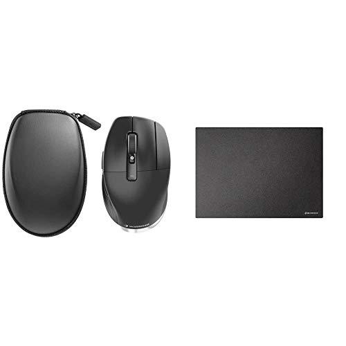 3Dconnexion CadMouse Pro Wireless (Ergonomische Maus, optisch, kabellos, Rechtshänder) & CadMouse Pad (Mauspad, schwarz)