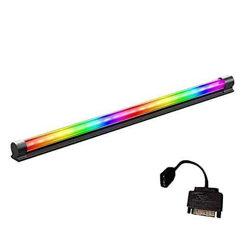Matedepreso Tira de luz LED,Tira ARGB portátil,Tira de lámpara que cambia de color magnético para cajas de computadora de PC