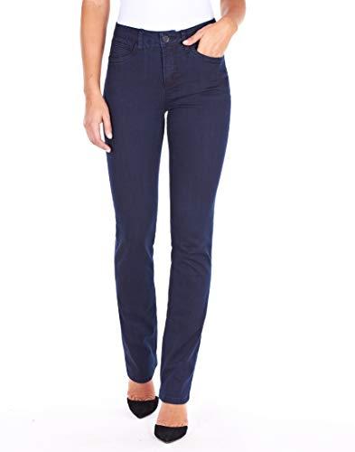FDJ French Dressing Women s Olivia Slightly Curvy Fit Straight Leg Jeans,Pleasant Supreme Denim, 4