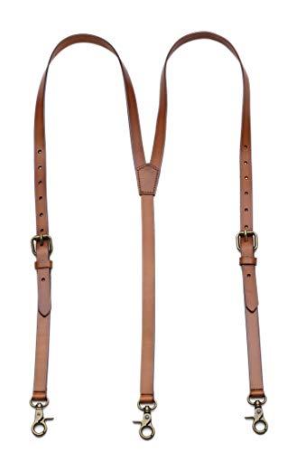Brown Leather Suspenders for Men Wedding Vintage Y Back Suspenders Tagger Snaps Wedding Party Best Groomsmen Gifts