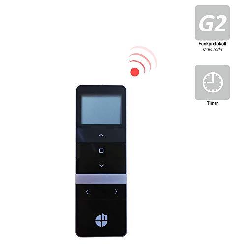 h Handfunksender/Fernbedienung/Handsender/Sender für heicko Funk-Motoren und Externe Empfänger (5-Kanal | schwarz | Funkprotokoll G2) (1 ST)