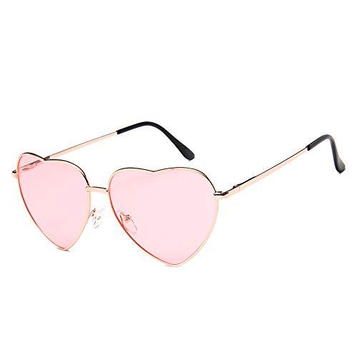 DIYOO Occhiali da Sole a Forma di Cuore retrò Fai da Te Occhiali da Sole Fashion Look Vintage Occhiali da Sole Uomo Donna Classico Unisex Occhiali da Vista Rosa A