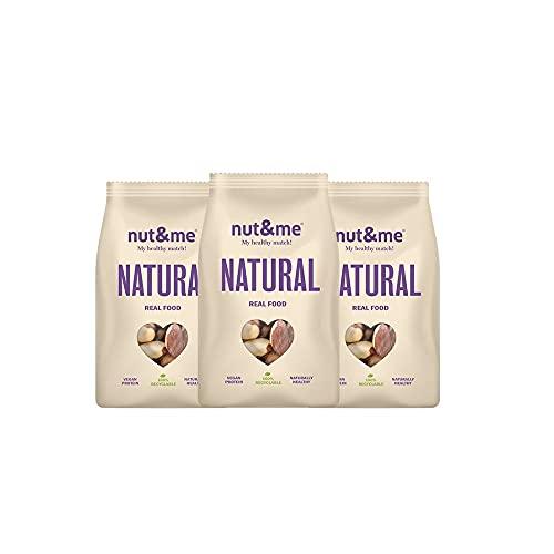 Nueces de Brasil 100% Natural nut&me l 525 gr | Rico en fibra | Sin Gluten | Vegano | Sin conservantes | Pack 3 unidades (175 g/unidad)