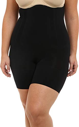 SPANX Oncore High-Waisted Mid-Thigh Short Very Black 3X