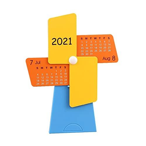 LZL Calendario de Escritorio del Titular de la Pluma 2021 Calendario DE MINUTMILL DE Creativo Mini DE ESCENDIENTES DE ESCENDIENTES Calendario PLÁSTICO PLÁSTICO Principal