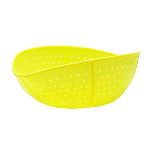 TRAMD『クシャッと水切りざるJ(レモン)日本製』