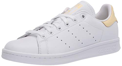 adidas Originals Herren Stan Smith Turnschuh, Weiß/Weiß/Easy Yellow, 40 2/3 EU