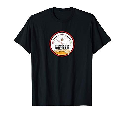 Bier Label Tankanzeige | Bierlevel Kritisch | Bier Fun T-Shirt