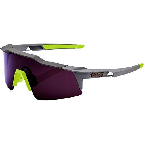 Occhiali Ciclismo 100/% Speedcraft Air Soft Tact Nero Hiper Red Multilayer Mirror