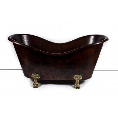 Gloria - Kupfer Badewanne Luxus Rustikal Retro mit Füßen