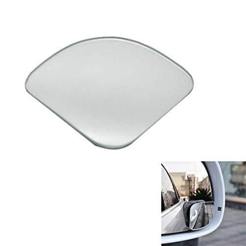 Zhenwo 2 Parti Rimuovono Car Rear View Mirror 360 di Rotazione Regolabile Fissabile Convesso Specchio Blind Spot Posto per Il Motociclo Car,Bianca