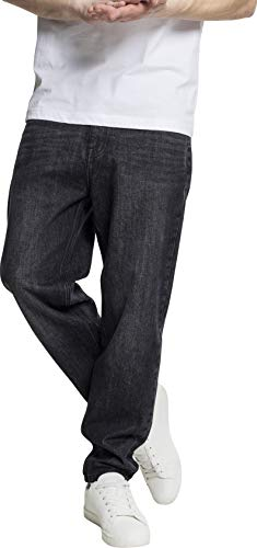 Urban Classics Herren Loose Fit Jeans Denim Baggy Pants TB2204, Gr. W34, Schwarz (Black Wash 01400)