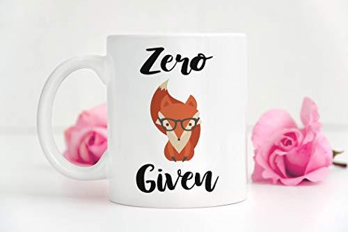 Fox Mug Zero Fox Given Fox Kaffeetasse Lustige Fuchs Tasse sarkastische Tasse Lustige Kaffeetasse Frech Tasse Lustige Tasse Kollegen Geschenk für Freund