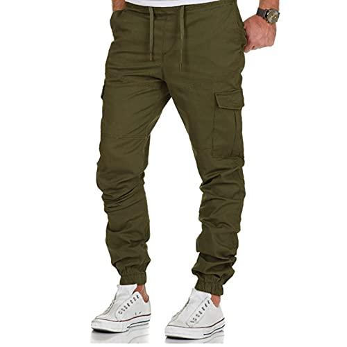 Fannyfuny Cargohose Herren Cargo Hose mit Taschen Baumwolle Jogger Chino Bequeme Regular Fit Jeans Outdoor Frachthose Men Pants Herrenhose Teen Jungen Party Kleidung