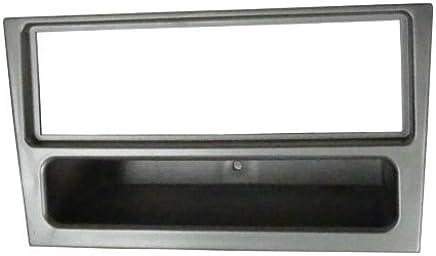 Aerzetix C2353 - Adaptador de autorradio de 1 DIN con marco embellecedor, color gris oscuro