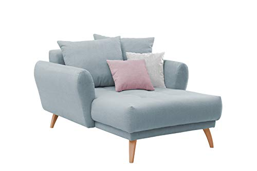 lifestyle4living Longchair mit Kissen im skandinavischen Stil | Der perfekte XXL-Sessel für entspannte Lange Fernseh- und Leseabende. Abschalten und genießen!