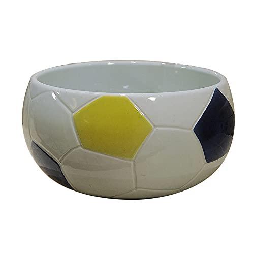 Lavabos sobre encimera Fregadero de baño de baño de esfera creativa- 11.4''x6.6 '' Piez fijo de buque de cerámica de porcelana por encima del contador de buques de baño Vanity Fregadero Forma única Cu