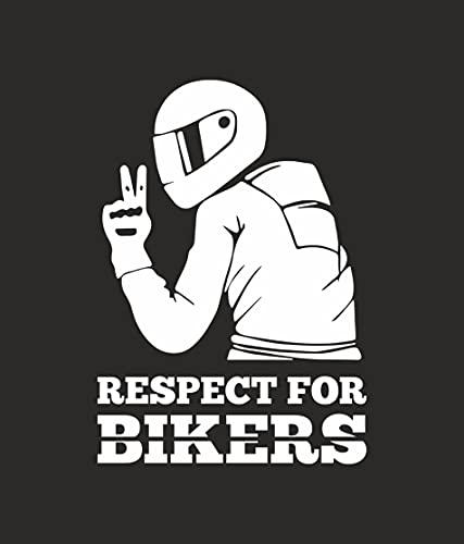 Arte Stampa Adesivo Respect for Biker Adesivo per Auto Moto...