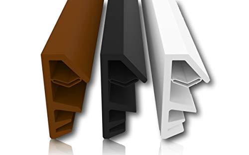 Fensterdichtung Braun 5m - 4mm Nutbreite / 12mm Falz aus TPE hochwertige Gummidichtung Holzfensterdichtung Fenster gegen Zugluft Lärm (Braun 5m)