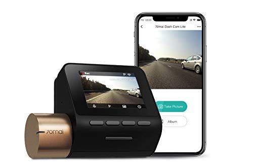 "70mai Dash Cam Lite, Dash Cam Recorder Camcorder, High Resolution 1080p, Parking Monitor, 2"" LCD Screen, WDR, Night Vision, G-Sensor, Loop Recording, Motion Detection, App WiFi (2020)"