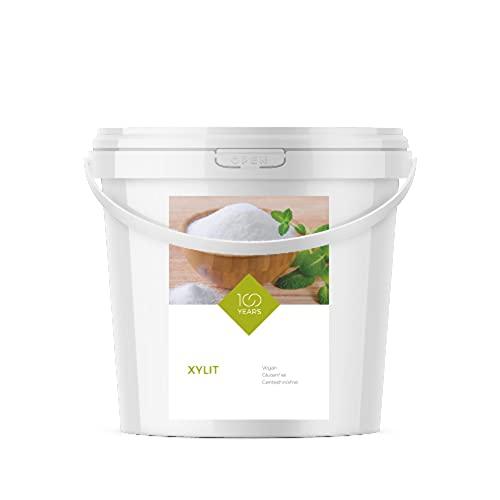 100years - Xylit 5000g (5 kg) - kalorienreduzierter Zuckerersatz aus Birkenzucker, zahnfreundliche Zuckeralternative - abgefüllt in Deutschland