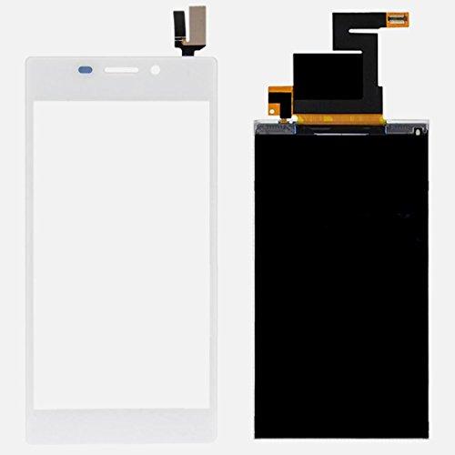 Pantalla de sustitución de pantalla LCD táctil para Sony Xperia M2, diseño de D2302 D2303 D2305 D2306 () color blanco