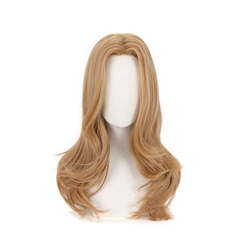 Peluca de Cosplay de mi héroe Academia Camie Utsushimi Boku no Hero Academia pelucas de pelo sintético largo y rizado marrón rubio + gorro de peluca