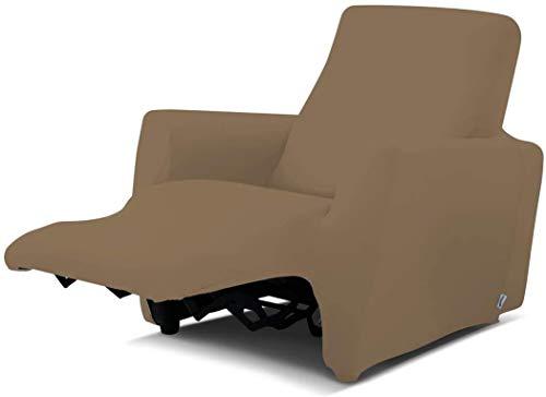 Biancaluna Relax Genius Lounge, Copripoltrona per Poltrone Reclinabili, Copridivano 1 Posto, Tortora