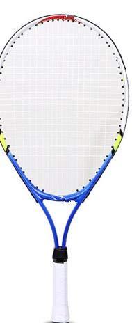 Escuela para Principiantes Practicando Tenis Raqueta Niños Deportes al Aire Libre TeenSturdy Grip-Blue