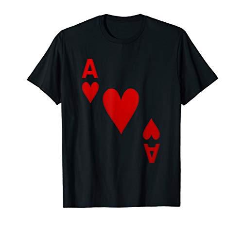 Herz Ass Spielkarte Karten Spiel Kostüm   T-Shirt Geschenk