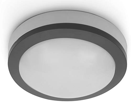 LED buitenlamp 12W IP65 met HF-bewegingsmelder - plafondlamp wandlamp - daglicht wit (4000 K)
